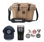 Cordova Cooler - 20 Quart (w/ Black Hat, Tumbler and Sticker Set)