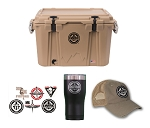 Cordova Cooler - 48 Quart (w/ Trucker Hat, Tumbler and Sticker Set)
